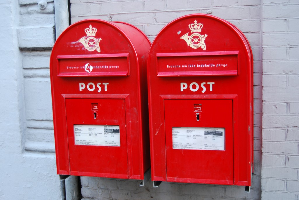 Danish mail boxes