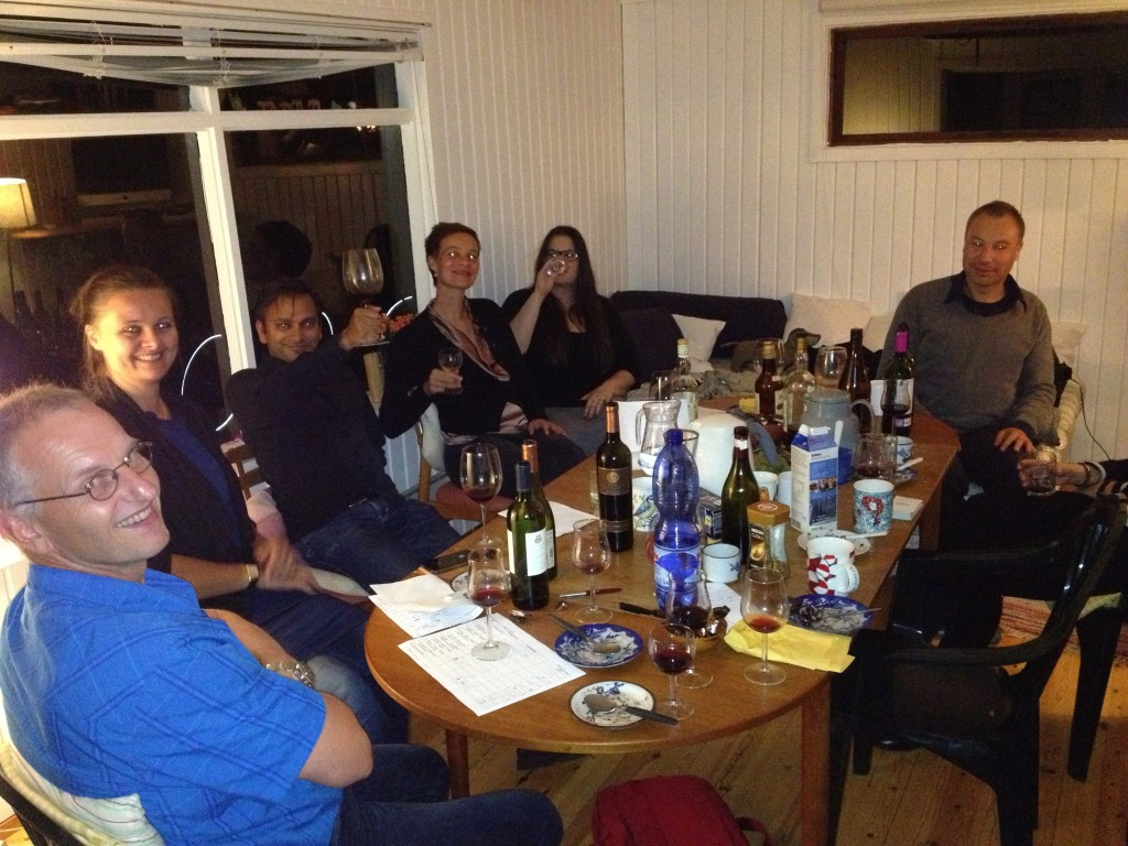 Expats at the wine tasting